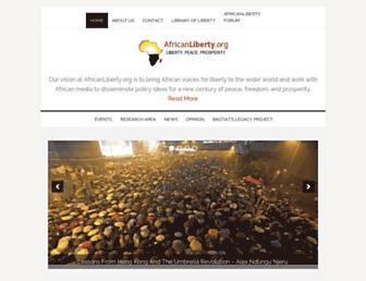 Main page screenshot of africanliberty.org