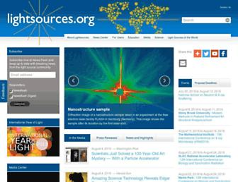 Main page screenshot of lightsources.org