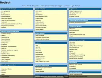 Main page screenshot of medisch.uwpagina.nl