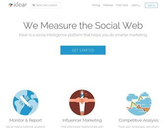 klear.com screenshot