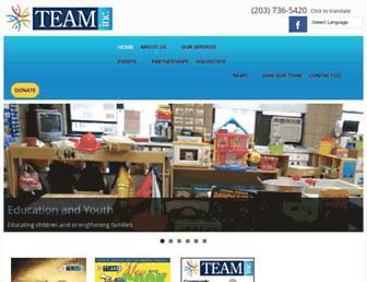 Main page screenshot of teaminc.org