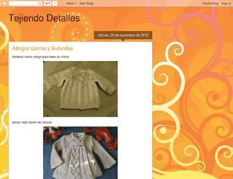 tejiendodetalles.blogspot.com screenshot