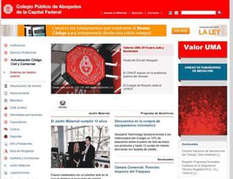 cpacf.org.ar screenshot