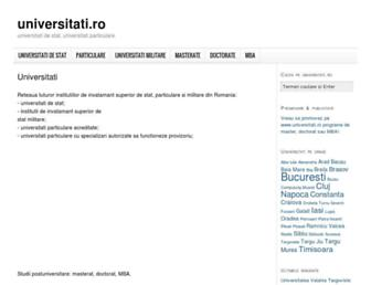 universitati.ro screenshot
