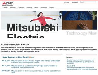 mitsubishielectric.com screenshot