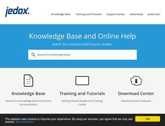 knowledgebase.jedox.com screenshot