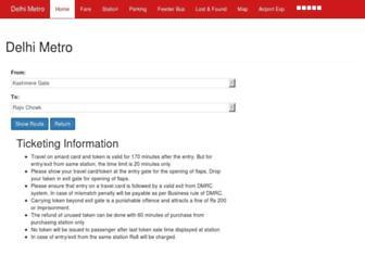 delhimetrorail.info screenshot