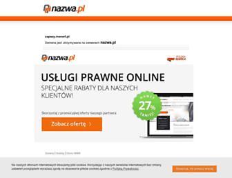 Main page screenshot of zapasy.menert.pl