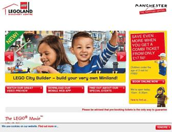Main page screenshot of legolanddiscoverycentre.co.uk