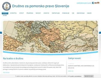 Main page screenshot of dpps-mlas.si