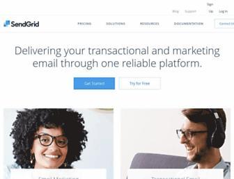 sendgrid.com screenshot