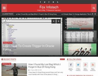 foxinfotech.in screenshot
