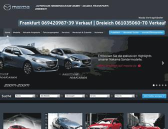 Main page screenshot of mazdafrankfurt.de