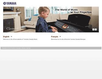 ca.yamaha.com screenshot