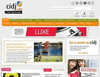 cidj.com screenshot