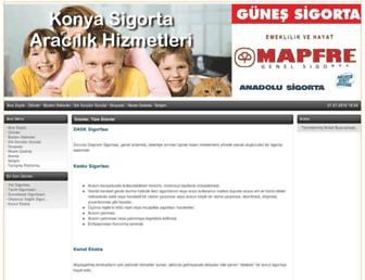 konyasigorta.com.tr screenshot