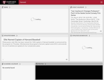 Main page screenshot of m.harvard.edu