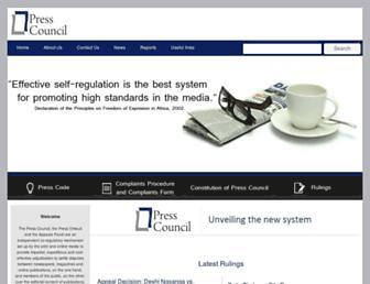 presscouncil.org.za screenshot