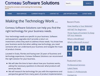 comeausoftware.com screenshot