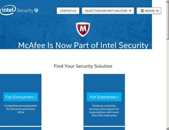 Thumbshot of Mcafee.com
