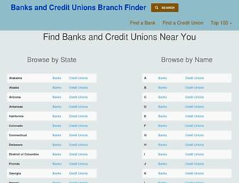 bankscredtunions.us screenshot