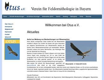 Main page screenshot of otus-bayern.de