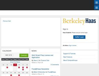 haas.campusgroups.com screenshot
