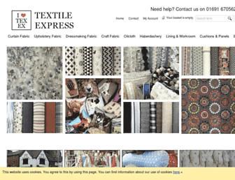 textileexpressfabrics.co.uk screenshot
