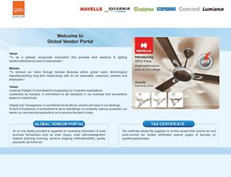 vendors.havells.com screenshot