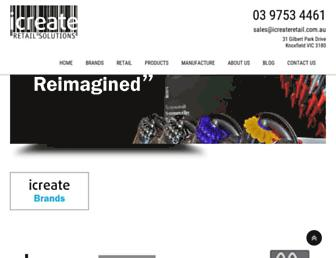 icreateretail.com.au screenshot