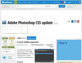 adobe-photoshop-cs5-update.en.softonic.com screenshot