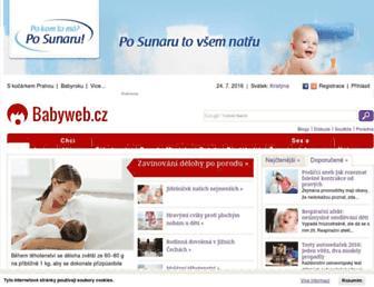 babyweb.cz screenshot