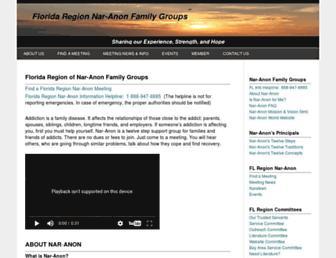 Main page screenshot of naranonfl.org