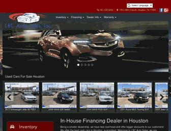 lbcautosales.com screenshot