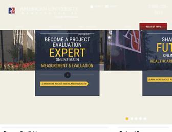 programs.online.american.edu screenshot
