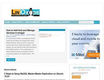 linoxide.com screenshot