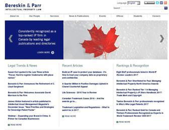 bereskinparr.com screenshot