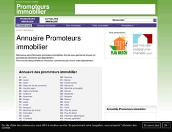 Main page screenshot of promoteurs-immobilier.net