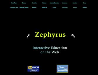 zephyrus.co.uk screenshot