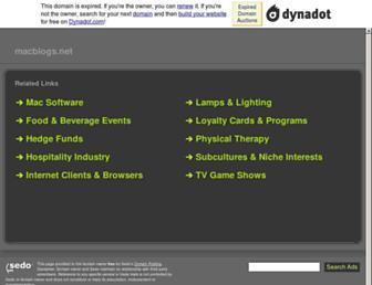 Main page screenshot of macblogs.net