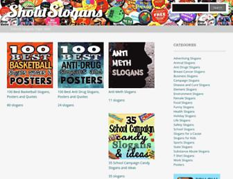 shoutslogans.com screenshot