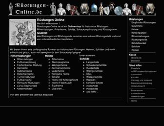Main page screenshot of ruestungen-online.de