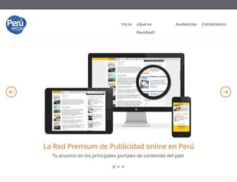 Main page screenshot of perured.pe