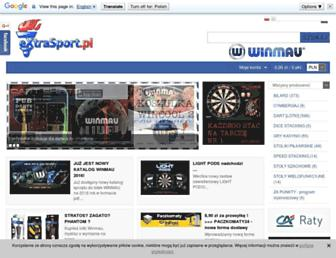 Main page screenshot of extrasport.pl