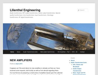 lilienthalengineering.com screenshot