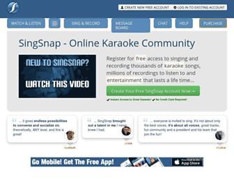 Thumbshot of Singsnap.com
