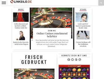Main page screenshot of linksilo.de