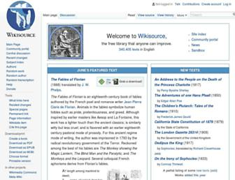en.wikisource.org screenshot
