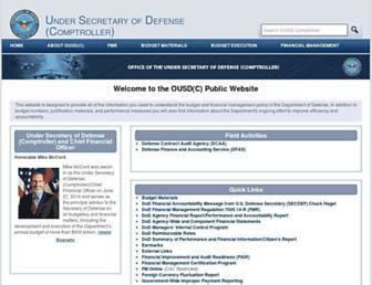 comptroller.defense.gov screenshot