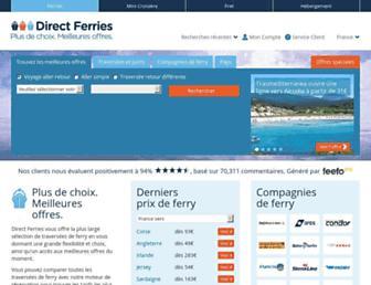 directferries.fr screenshot